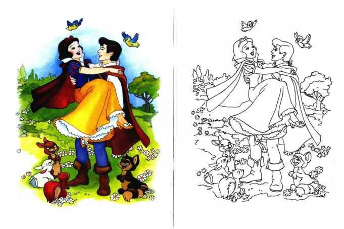 Герои зарубежных сказок раскраска